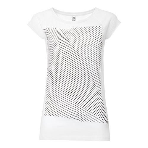 ThokkThokk Crooked Stripes Cap Sleeve black/white aus 100% Biobaumwolle hergestellt // GOTS und Fairtrade zertifiziert