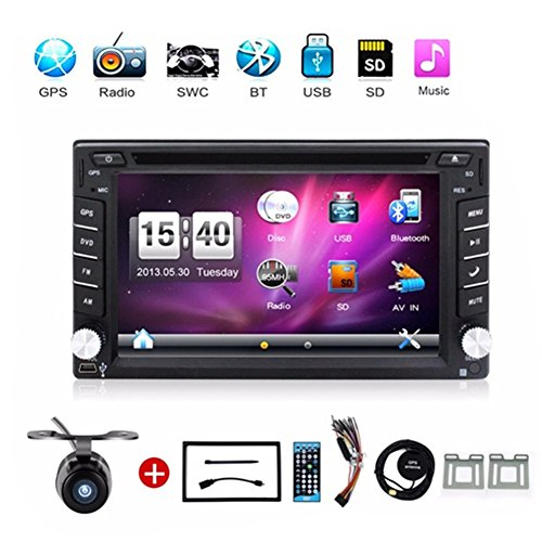 Hot selling product 6.2-inch Double DIN in Dash Car Dvd Player Car Stereo Touch Screen with Bluetooth USB Sd Mp3 Radio for Universal Car Free Backup Camera by BOSION Navigation