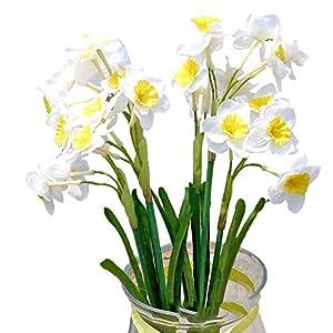 Lopkey 2 Pcs- Spring Flower Artificial Daffodil Bush ... 88