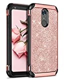LG Q7 Case,LG Q7 Plus Case,LG Q7+ Case,BENTOBEN Slim Hybrid Dual Layer Shockproof Hard PC Cover Soft TPU Bumper Heavy Duty Rugged Impact Resistant Protective Phone Case for LG Q7/Q7 Plus,Rose Gold