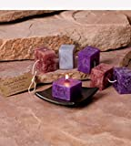 CC Home Furnishings Pack of 6 Calming Aromatherapy Scented Rope Candles