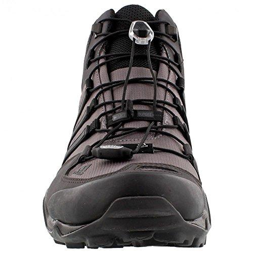 adidas Terrex Swift R Mid GTX - Botas de senderismo para hombre Granite / Black / Shadow Black
