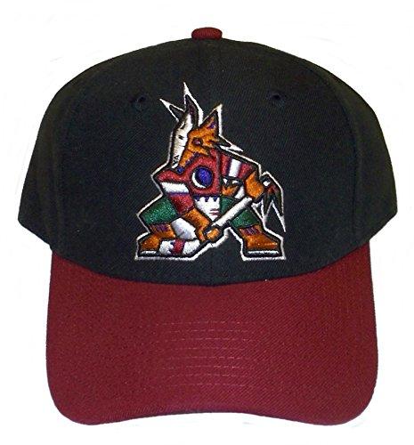 newest 48b16 2ee36 Reebok Arizona Coyotes New Phoenix Vintage Original Coyote Logo Black Red  Era Hat Cap
