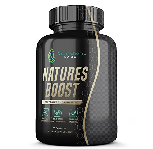 NATURES BOOST Testosterone Booster - Natural Testosterone Supplement for Performance, Size, Stamina, and Enhanced Libido - 60 Veggie Capsules