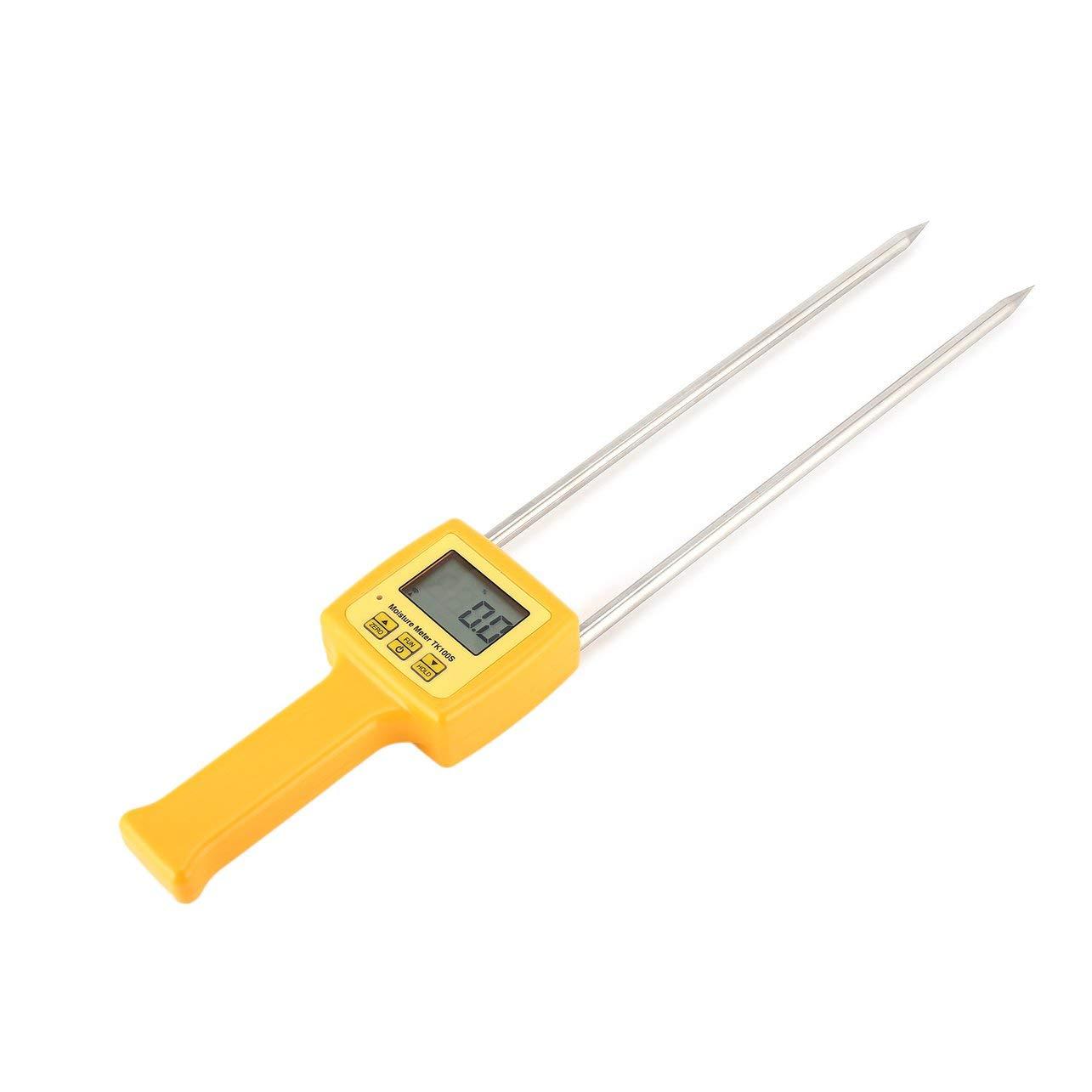 Medidor de Humedad del Grano probador del Metro de Maíz Trigo Arroz (Color: Amarillo)
