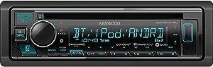 Kenwood KDC-BT375U Single DIN In-Dash FM/AM/CD Multimedia Bluetooth Car Receiver (Renewed)