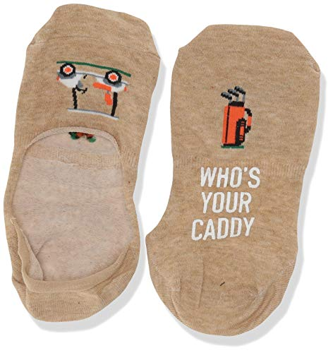 Hot Sox Men's Fun Novelty Liner Socks, Who'S Your Who'S Your Caddy (hemp Heather), Shoe Size: 6-12