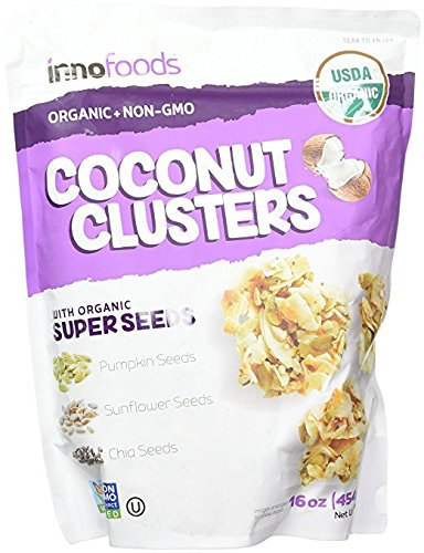 - InnoFoods Coconut Clusters with Organic Super Seeds (Pumpkin; Sunflower & Chia Seeds) (Family Value 3 Bag - 16 oz Each)