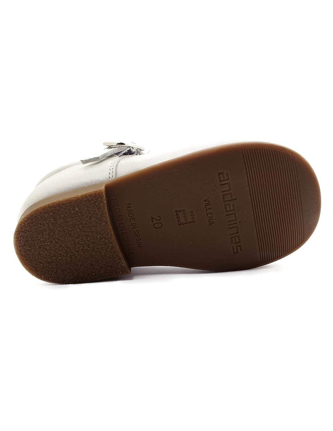Mercedita Andanines Lazo Nacarado Blanco: Amazon.es: Zapatos ...