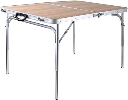 Mesas de Acampada Mesa Plegable para Banquetes al Aire Libre ...