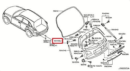 Infiniti Genuine Back Door Panel & Fitting Bracket 90455-CG000 FX45/35