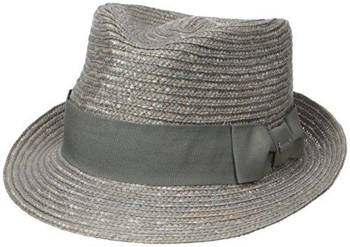 Kangol Men's Wheat Braid Arnold Trilby, Grey, X-Large - Kangol Straw Braid