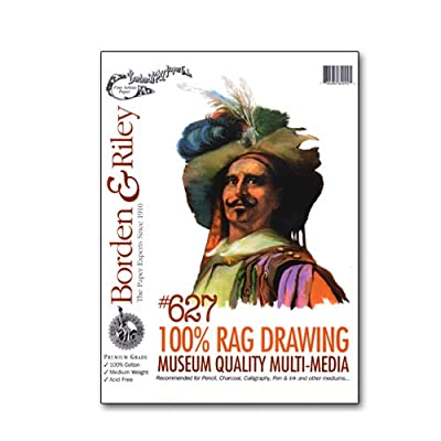 "100% Rag Drawing Paper for Multi-Media - 36""x10 Yards Roll"
