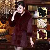 Women Faux Fur Coat Elegant Thick Warm Winter