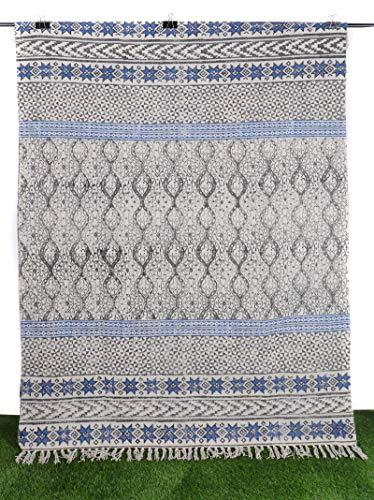 Indian Handmade Cotton Dari Hippie Floor Rug Mat Kilim Rug Geometric Design Dhurrie Indoor Carpet Handwoven Dari Antique Runner Black 4x6ft