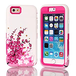 5S,5S cases,5S (iPhone)hard, Ezydigital Carryberry 3in 1 hybrid cover case for 5S (Hot Pink)