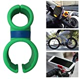 JJMG New Double C iPhone/Samsung Phone Universal Mobile Holder Lazy Bracket Hands-Free Mount Car Air Vent Steering Wheel Bicycle Handle Bar Mount Holder Grip and Cradle Stand for Cell phone (Green)