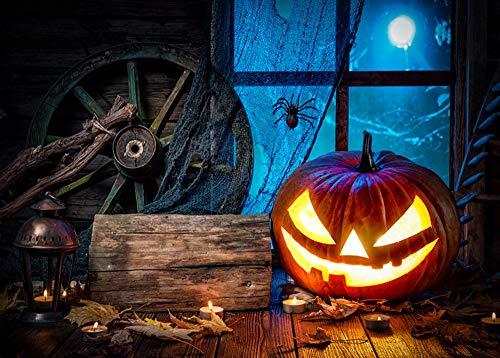 YOcheerful Halloween Backdrops Pumpkin Lantern Background Photography Studio (I,15090cm)