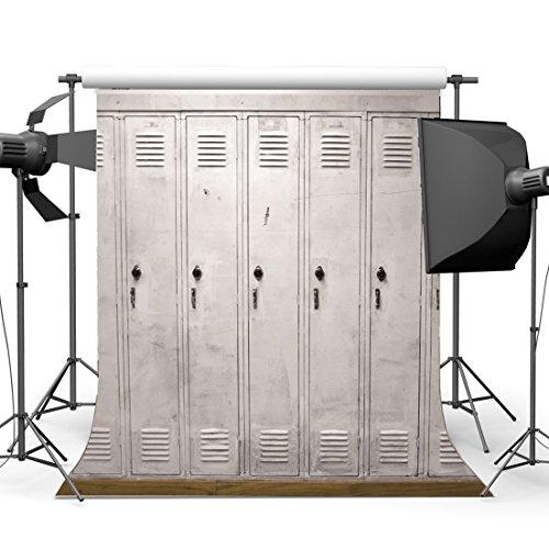 Gladbuy Old Locker Backdrop 3X5FT Vinyl Gym Hall Room Security Storage Store Backdrops Supermarket Locker Door Photography Background for Students Bible School Party Wallpaper Photo Studio Props -