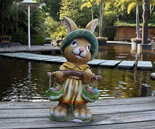 Diseño 2 liebre enana 91108-2 XXL 44 cm de altura, jardín, gnomo, figuras, decoración, diseño diverso: Amazon.es: Jardín