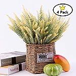 SEna-Artificial-Lavender-Bouquet-Flowers-Arrangements-Bridal-Home-DIY-Floor-Garden-Office-Wedding-Decor-Pack-of-4-Yellow
