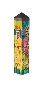 Studio M PL1094 Heart of The Family Garden Art Pole