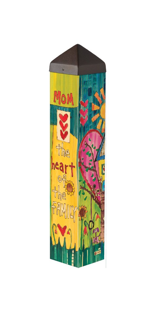 Studio M PL1094 Heart of The Family Garden Art Pole