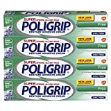 Super Poli-grip Original Formula Zinc Free Denture Adhesive Cream, 4 Count