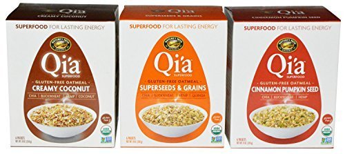 Qi'a Superfood Gluten Free Oatmeal Variety Pack of - Pumpkin Oatmeal