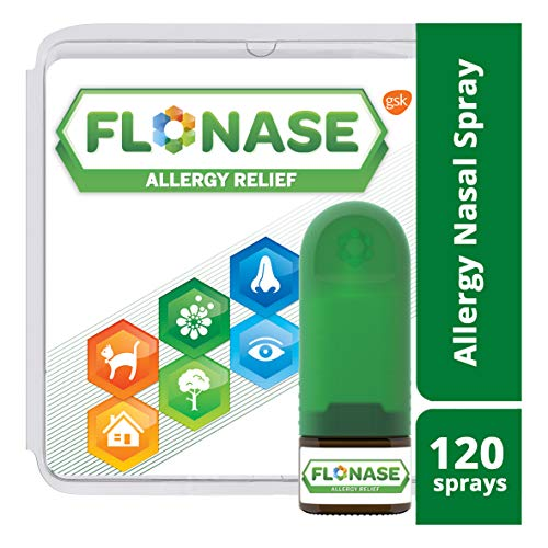 Flonase Allergy Relief Nasal Spray, Allergy Medicine Nose Spray, 24 Hour Non-Drowsy, 120 - Nose Allergy Spray