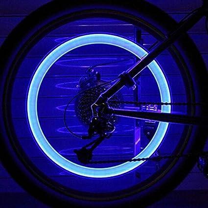 Rueda luces, asdomo al aire libre montaña bicicleta luces rueda ...