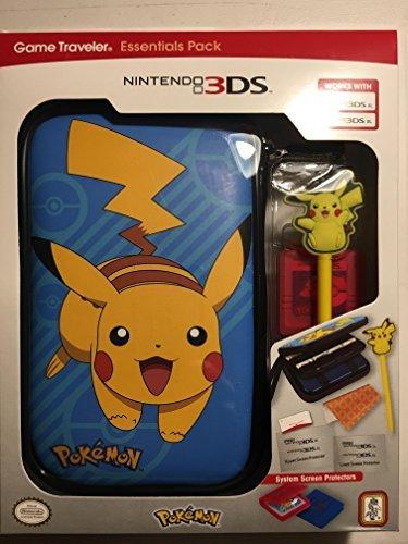 - RDS Industries, Nintendo 3DS Game Traveler Essentials Pack - Black Pokeball