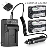 Kastar 2 Pack Battery and Charger for Sony NP-FM30 NP-FM50 NP-FM55H Battery and Sony Cyber-shot DSC-F707 DSC-F717 DSC-F828 DSC-R1 DSC-S30 DSC-S50 DSC-S70 DSC-S75 DSC-S85; Sony DSR-PDX10 HVL-ML20M