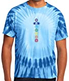 Yoga Clothing For You Mens Colored Chakras Tie Dye Tee Shirt, 4XL Royal For Sale