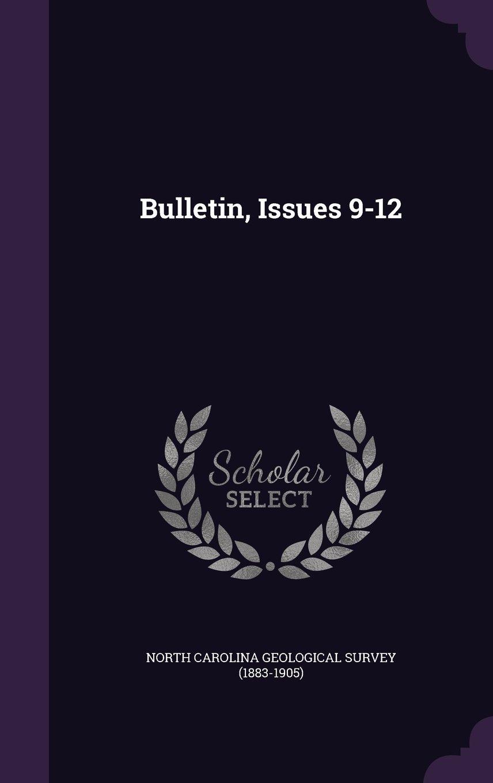 Bulletin, Issues 9-12 pdf epub