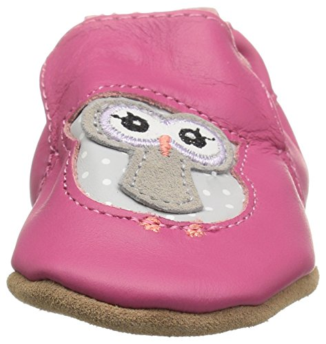 Robeez Girls Soft Soles Owl Playmates Bright Pink 12 18