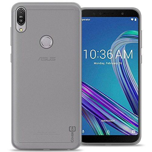 ase (ZB601KL), CoverON [FlexGuard Series] Slim Soft Flexible TPU Rubber Phone Cover Case for ASUS ZenFone Max Pro M1 - Clear ()