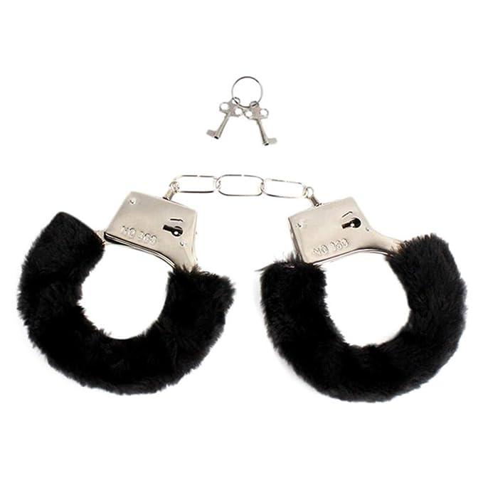 NINGNETI Juegos para Adultos SM Bondage Furry Soft Metal Esposas castidad Sexo Juguetes para Pareja (Black): Amazon.es: Ropa y accesorios