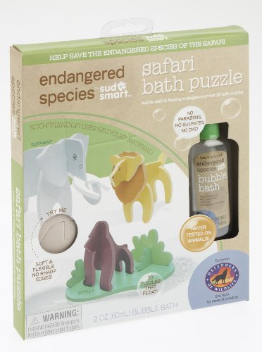 Endangered Species by Sud Smart Safari Bath Puzzle