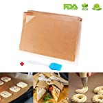 Unbleached Parchment Paper for Baking, 100 Pcs Precut 12x16 inches Cookie Baking Paper Sheets Non Stick Pan liner - Fit for Your Half Sheet Pans, with Silicone Baking Brush as Bonus 8 ✓ The perfect size for half sheet pans - 12'' x 16'' precut parchment paper sheets. More convience than the parchment rolls, save your time on cutting paper ✓ Make Cleanup Easier - Don't need to spend your time on scrubbing off baking grease from your cookie pan, simply remove the paper and throw it away ✓ Free Baking Brush as BONUS GIFT - Each pack of 100 baking sheets papers and includes a random color silicone detachable brush, for baking, grilling, basting & marinating