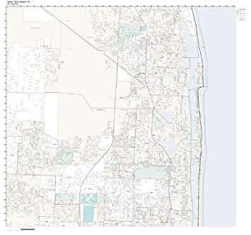 Map Of West Palm Beach Florida.Amazon Com Zip Code Wall Map Of West Palm Beach Fl Zip Code Map