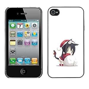 YOYO Slim PC / Aluminium Case Cover Armor Shell Portection //Christmas Holiday Cute Santas Helper 1279 //Apple Iphone 4