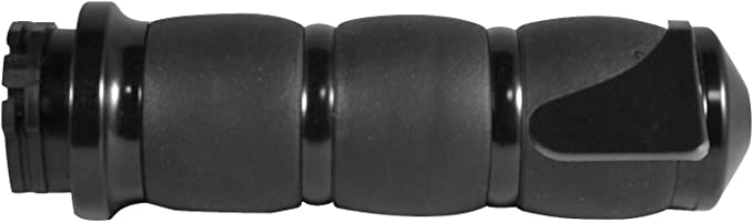 Avon Black Anodized Velvet Air Grips For Harley Fly By Wire Throttle