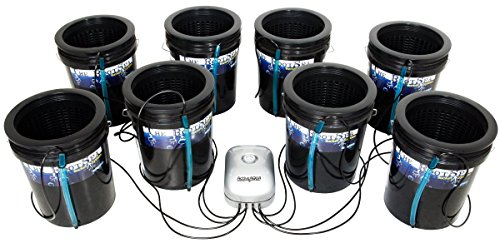 Root Spa RS5GAL8SYS 8, 5 Gallon Bucket System, Black
