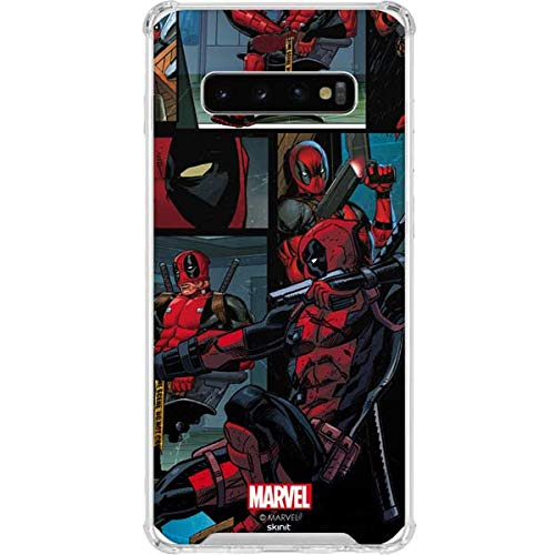 Skinit Deadpool Galaxy S10 Plus Clear Case - Officially Licensed Marvel Phone Case - Transparent Galaxy S10+ Cover ()