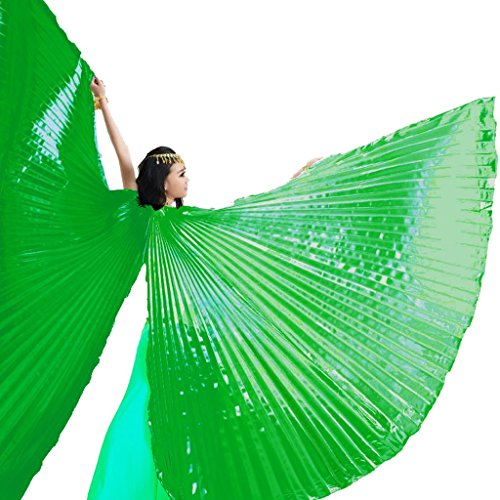 Green Belly Dance Costume - Pilot-trade Women's Egyptian Egypt Belly Dance Costume Bifurcate Isis Wings Green