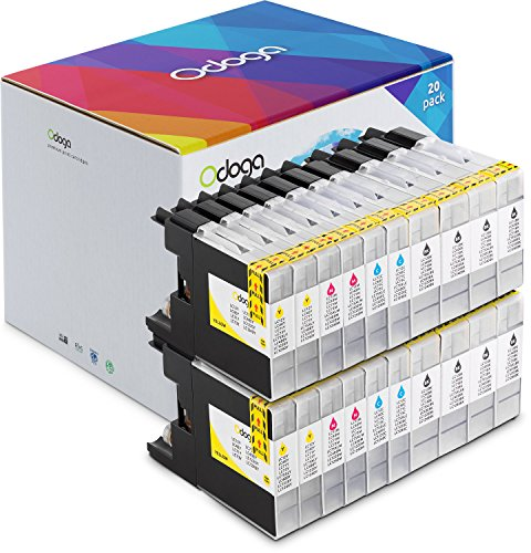 Odoga Ink Cartridge LC-75 LC-71 High Yield Combo Pack Replacement for for Brother MFC-J430W J825DW J435W J6710W J835DW J5910DW [8 Black, 4 Cyan, 4 Magenta, 4 Yellow] (Brother Printer Cartridges Lc71)