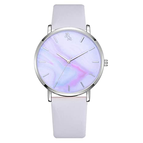 Amazon.com : Wrist Watches Fashion Accessories, Women Elegant Multicolor Horse Round Dial Quartz Analog No Numbers Wrist Watch - White : Beauty