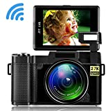 Digital Camera Camcorder WiFi Vlogging Camera 2.7K Ultra HD 24MP Video Camcorders Vlogging
