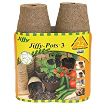 Plantation Jiffy 5318 3-Inch Seed Start Pots, 22-Count